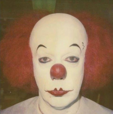 Tim Curry's first make-up test as Pennywise for Stephen King's IT.