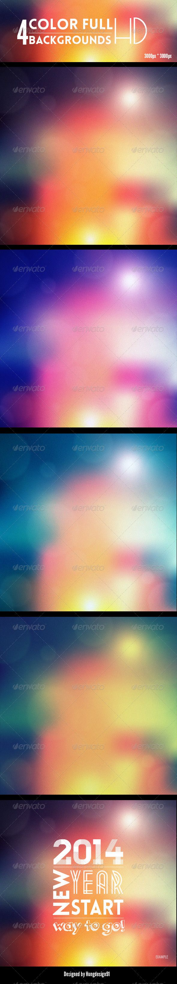 4 Amazing Color Full Backgrounds
