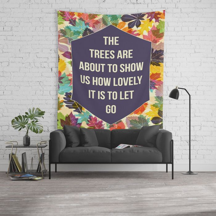 Autumn Trees tapestry by Fimbis  ____________________________  #Autumn #fall #quote #colourful #typography #change #fashion #style #homedecor #interiordesign #interiors #wallart