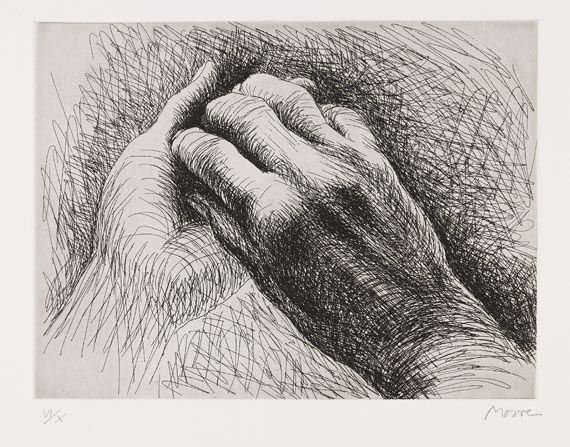 proustitute: Henry Moore, The Artist's Hand II, 1979 (via)