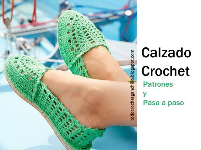 calzado tejido en crochet paso a paso  http://todocrochetganchillo.blogspot.com.ar/2015/09/5-modelos-de-calzado-para-tejer-al.html