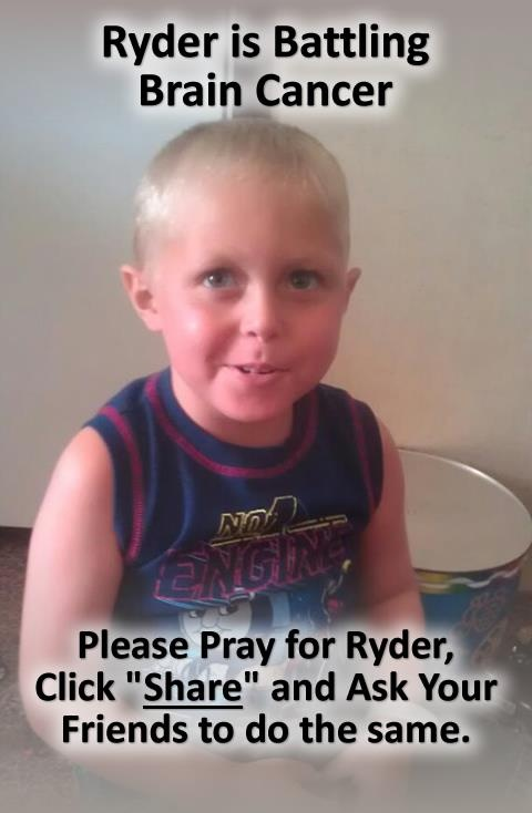 5 year old Ryder was diagnosed with Glioblastoma multiform cancer