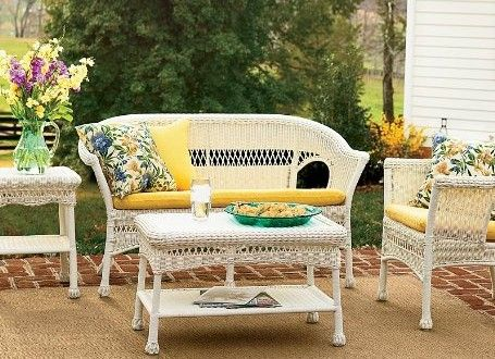 Lightweight, All Weather Resin Outdoor Wicker Love Seat, Chair, Coffee Table  And End Table Part 73