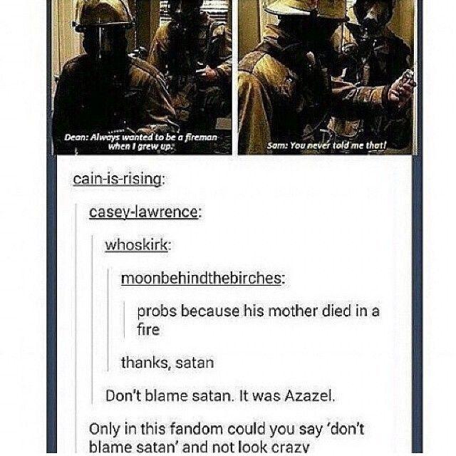 Don't blame satan.