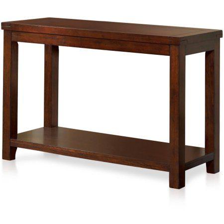 Furniture of America Pivett Transitional Sofa Table, Dark Cherry, Brown