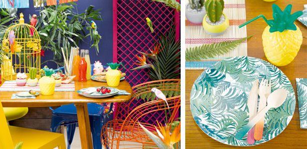 """Addobbi e decorazioni per feste a tema """"Giungla tropicale"""" su VegaooParty"""