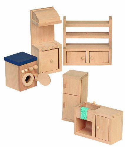 Beluga 70120 - Muebles de madera para la cocina de casa de muñecas: Amazon.es: Juguetes y juegos