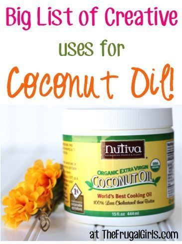 BIG List of Creative Uses for Coconut Oil! ~ from TheFrugalGirls.com ~ SO many fabulous tips and tricks! #coconutoil #thefrugalgirls