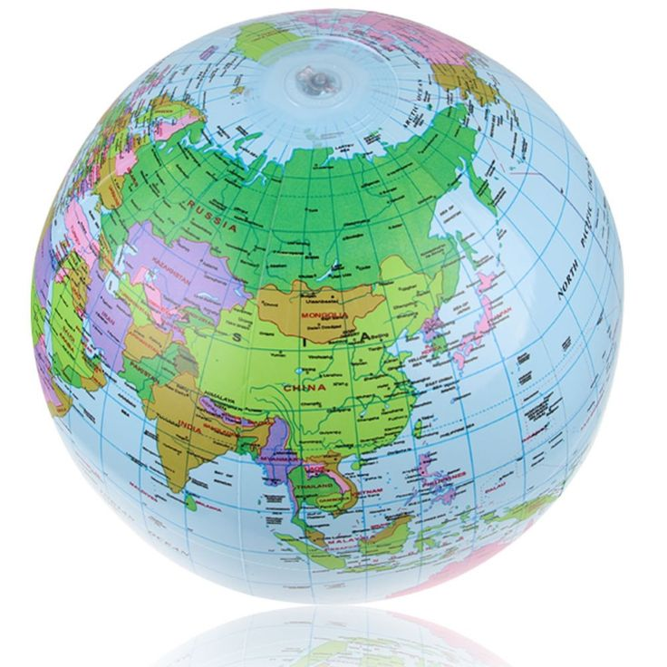 The 25 best world globe map ideas on pinterest globes paint ipree 40cm inflatable world globe map balloon beach ball teach education geography toy gumiabroncs Choice Image