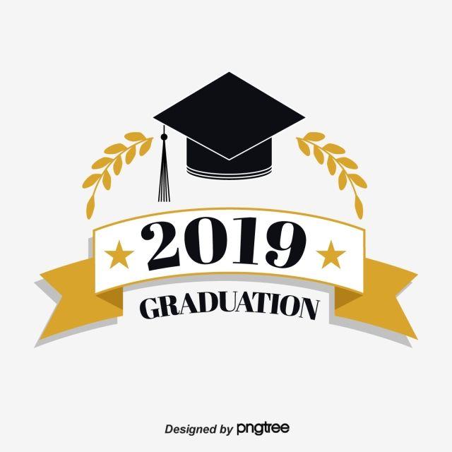 قبعة تخرج من القمح الشريط المسطح 2019 Graducation الخط