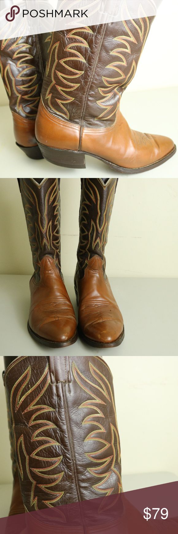 NOGANA MEN LEATHER WESTERN BOOTS SIZE11.5 ITEM IS A PAIR OF PRE OWNED NAGONA  MEN S WESTERN / COW BOY LEATHER BOOTS IN A SIZE 11.5 ITEM DOES HAVE SIGNS OF WEAR AROUND THE UPPER HEEL AREA IN THE FORM OF SCUFFING OTHER THAN THAT,  ITEM IS OTHER WISE INTACT WITH LOTS OF WEAR LEFT IN THEM NOCANA Shoes Cowboy & Western Boots