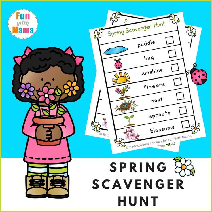 Printable Spring Scavenger Hunt To Enjoy With Your Kids