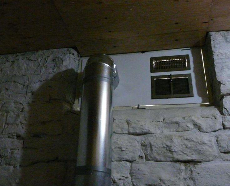 монтаж вентиляции в погребе