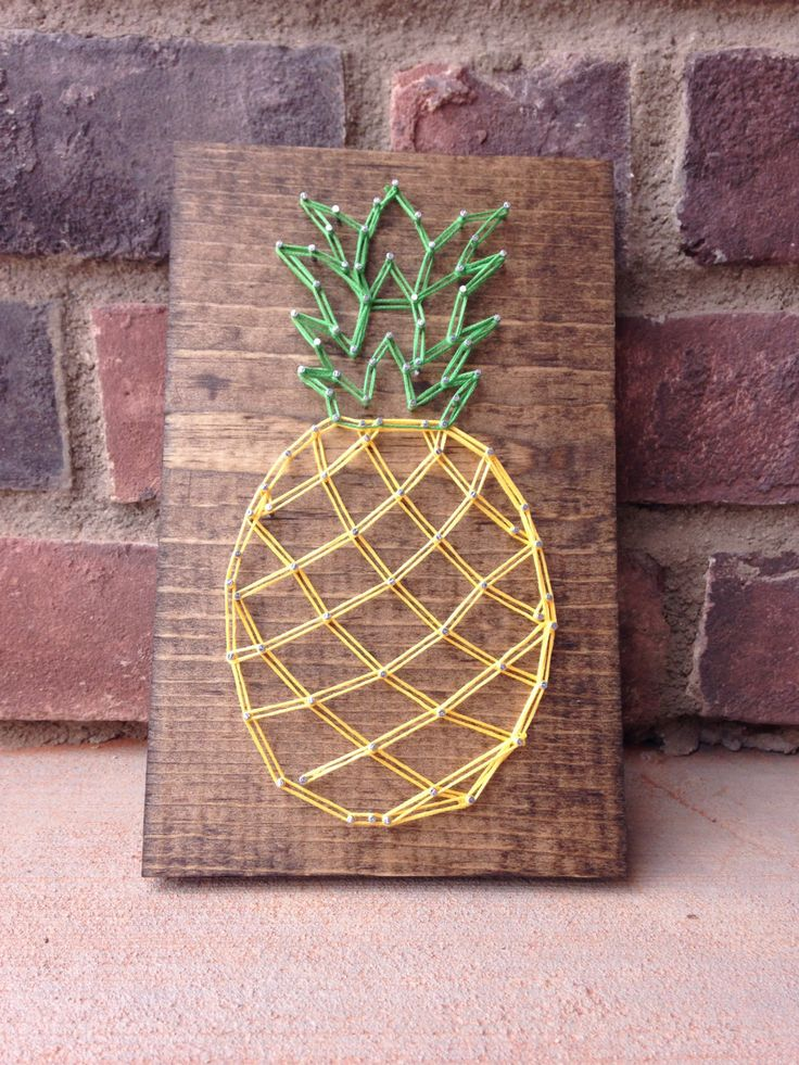Pine apple string art home decor wood sign  from my Etsy shop https://www.etsy.com/listing/281087934/pine-apple-string-art-home-decor-rustic