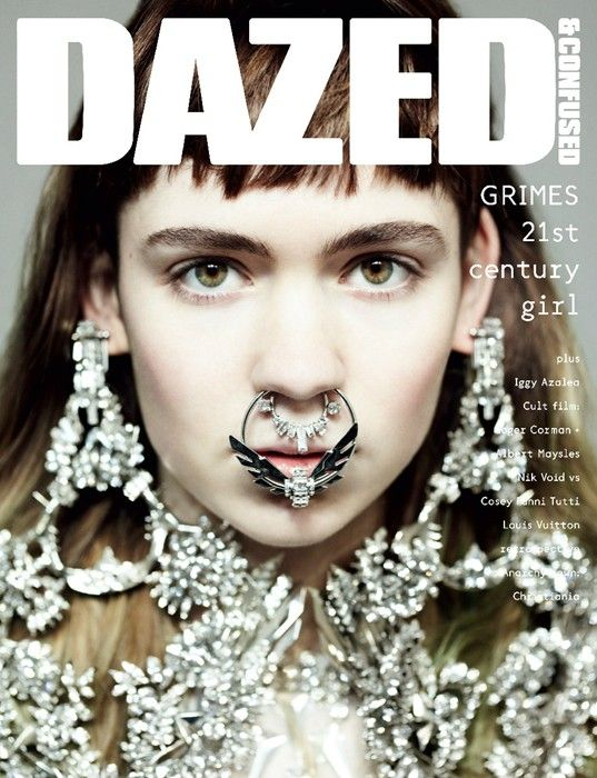 Grimes covers Dazed & Confused April 2012, photographed by Hedi Slimane.