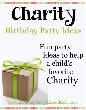 Charity Birthday Party Ideas - When you want to use your birthday party as a way to give back to others.   Ideas, charities, tips and more!   Fun party ideas for kids, tweens and teens ages 2, 3, 4, 5, 6, 7, 8, 9, 10, 11, 12, 13, 14, 15, 16, 17 years old. http://www.birthdaypartyideas4kids.com/charity-party-ideas.htm #holiday #theme #giving #party