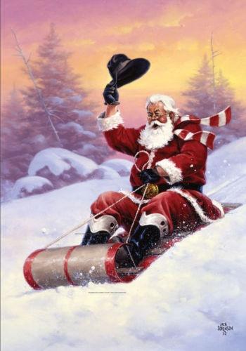 Love this cowboy Santa!