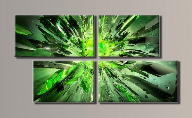 Картина модульная (50х93 см.) - Абстракция, взрыв, Арт. HAF-028