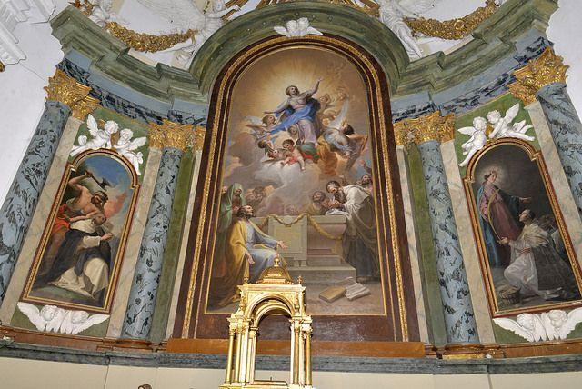 Retablo de Goya y los Hnos. Bayeu. Iglesia Parroquial de Ntra. Sra. de la Asunción de Valdemoro. S. XVII