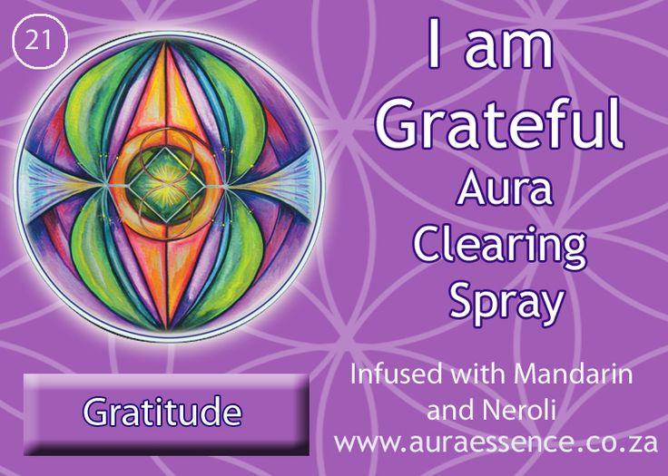 21- aura clearing spray gratitude