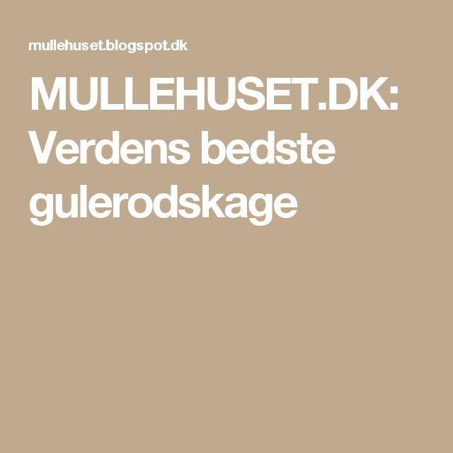 MULLEHUSET.DK: Verdens bedste gulerodskage