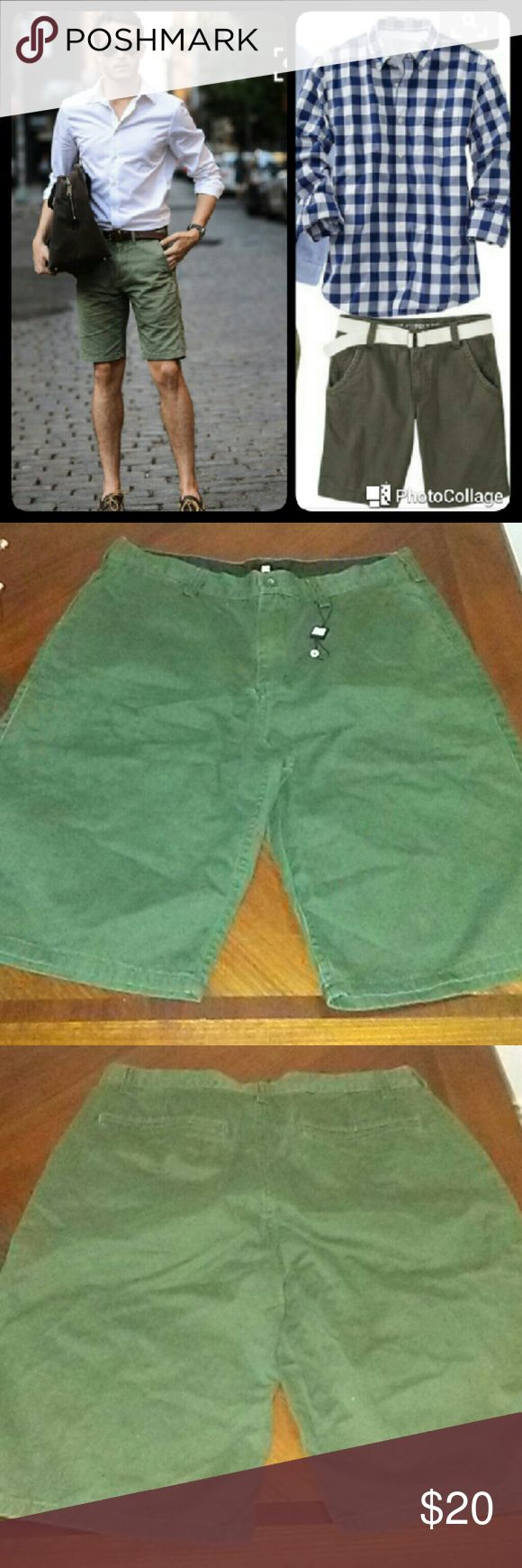 MEN DC GREEN ARMY SHORTS MEN DC GREEN ARMY SHORTS   New without Tag  Men   Size 32 DC Shorts Cargo