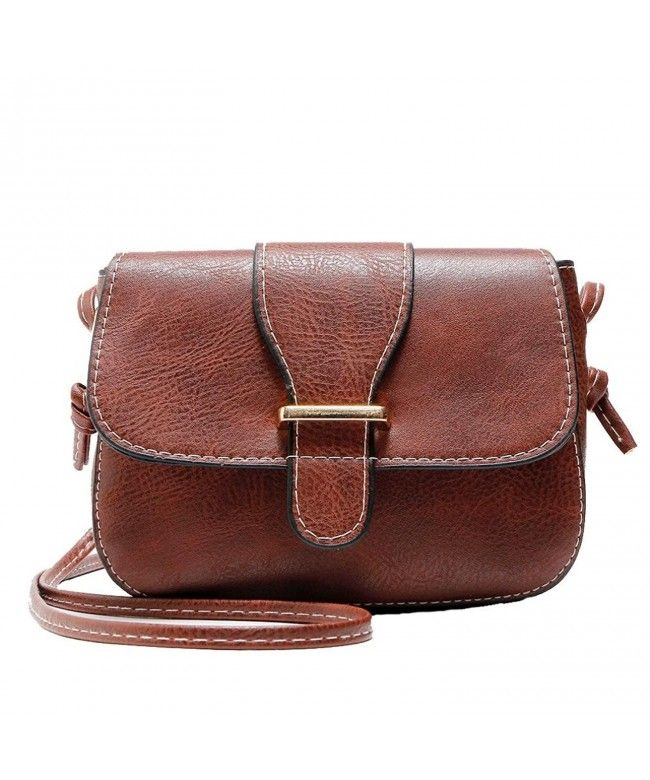 Mini Women Cross Body Shoulder Bags Fashionable Casual Handbags Leather Bag  for Teen Girls W - Brown - C7185XY8L77  Bags  Handbags  Satchelbags  gifts    ... b82bb38d4a4db