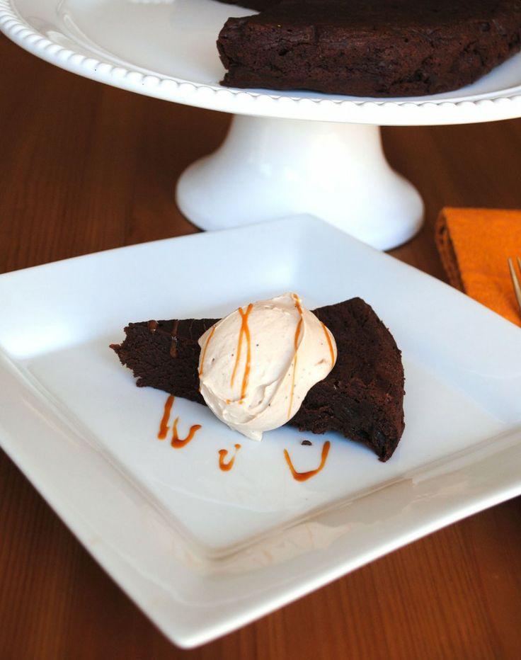 Flourless Chocolate Torte with Bourbon Salted Caramel ...
