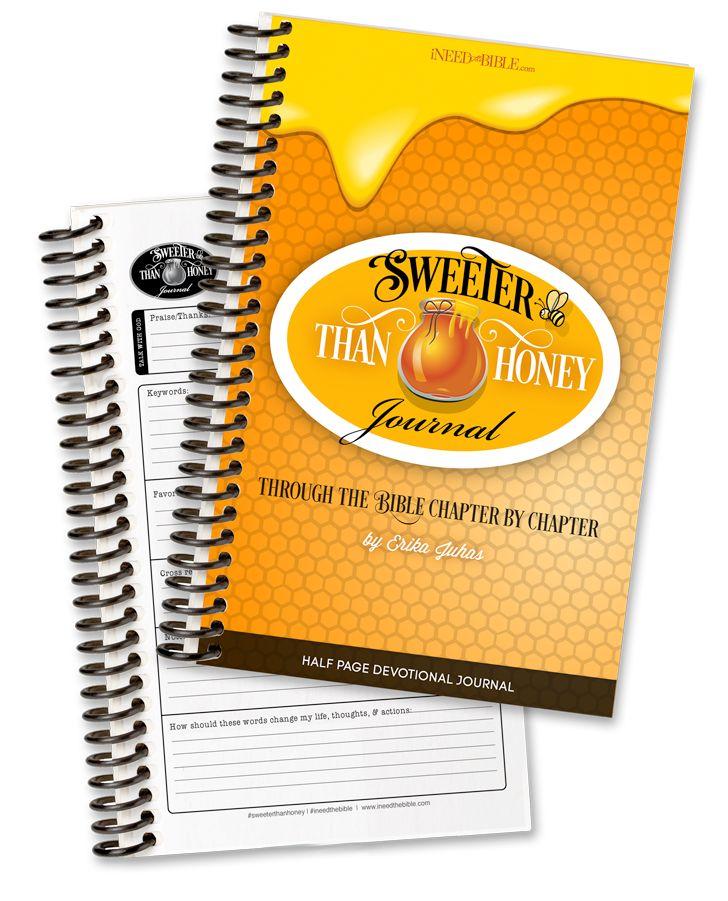 Sweeter than Honey Journal - Half Page (Printable) - I Need the Bible
