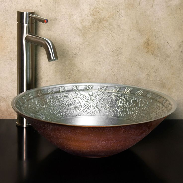 Delightful Caroline Bronze Vessel Sink   Bathroom Sinks   Bathroom White Bronze  $449.95 Signature Hardware