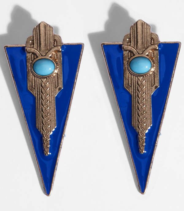 These Triangle Empire Earrings from Fred Flare Revive 1920s Elegance trendhunter.com