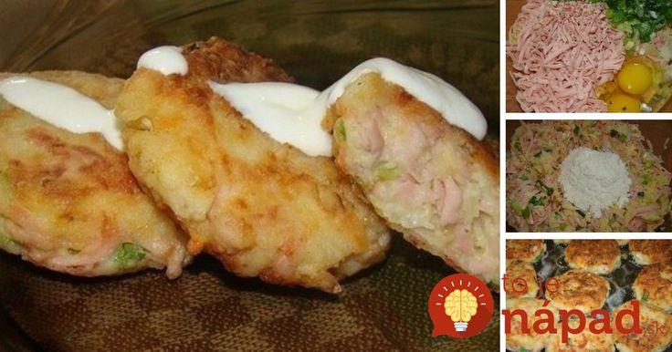 Rýchly achutný obed, ktorý zvládnete ľavou zadnou. Navyše, môžete zužitkovať suroviny, ktoré máte práve teraz vchladničke. Potrebujeme: 4 uvarené zemiaky  100 g strúhaného syra  150 g strúhanej šunky  Zelenú cibuľku  Soľ akorenie podľa chuti  2 vajcia  1 – 2 lyžice hladkej múky  Hladkú múku …