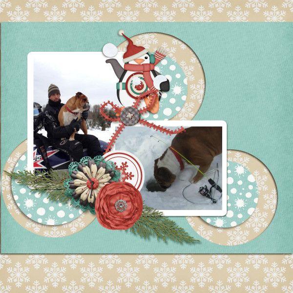 Winter Fun Layout by KittenScraps using Winter's Playground Bundle by KittenScraps