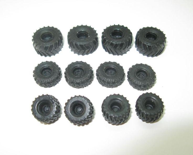 4 x Räder Ballonreifen  Laufräder Wheels für Landmaschinen - 1:87 HO