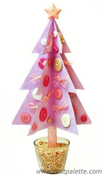 Six-sided Christmas tree craft