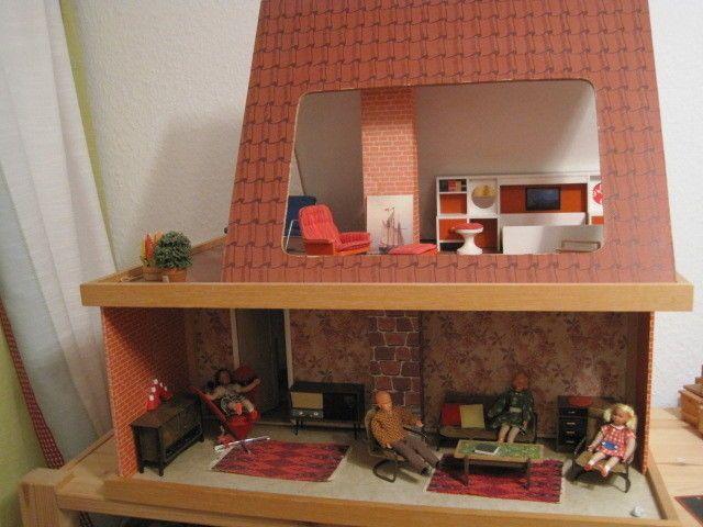LUNDBY / LISA-Puppenhaus zusammenlegbar RARITÄT 1:18 // Als LISA Haus Nr. 520 521 und später als Lundby Haus Nr. 520 521