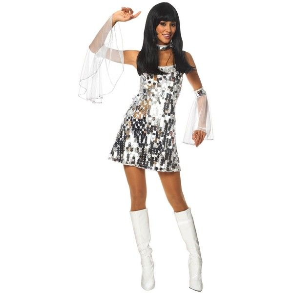 Sexy 60's Dazzle Adult Costume ($43) ❤ liked on Polyvore featuring costumes, halloween costumes, multicolor, sexy costumes, disco halloween costumes, adult disco costumes, polish costume and sexy adult costumes