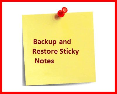 backup and restore windows 10 sticky notes