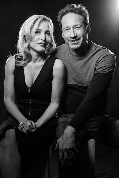 David Duchovny and Gillian Anderson photoshoot by Mark Mann - 2016 | Duchovny Central