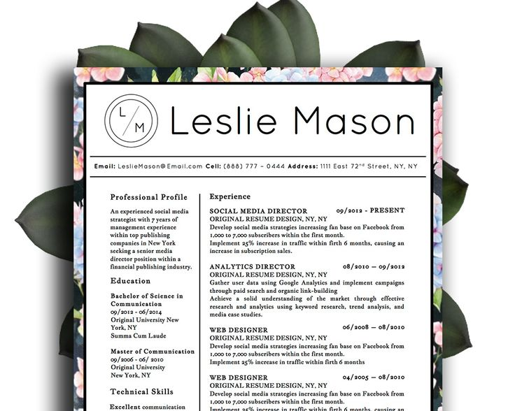 The 14 best Leslie Mason Beautiful Resume Cv Template images on ...