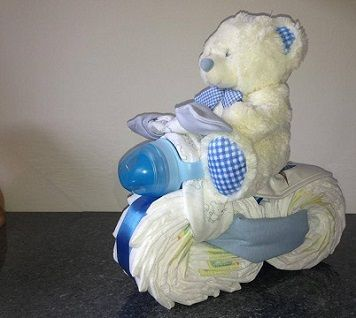 nappy cake motorbike - The Supermums Craft Fair