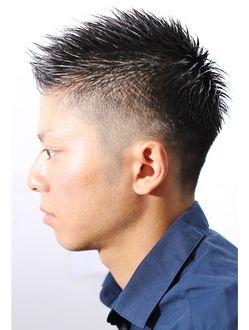 ディグズ ヘアー(Digz hair)【Digzhair:原宿】ナチュラルグラデーションモヒカン(遠藤)