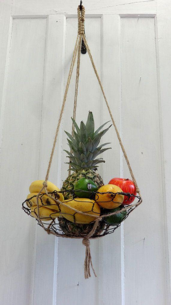 Handmade Hanging Fruit Basket : Best wire fruit basket ideas on hanging