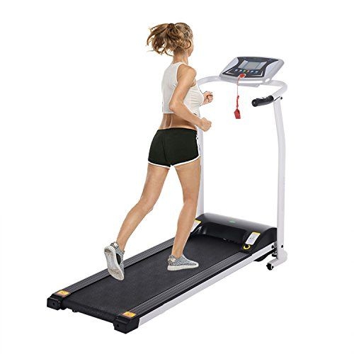 Folding Electric Treadmill,Mini Folding Electric Treadmill, Easy Assembly Motorized Running Machine for Home (Silver).