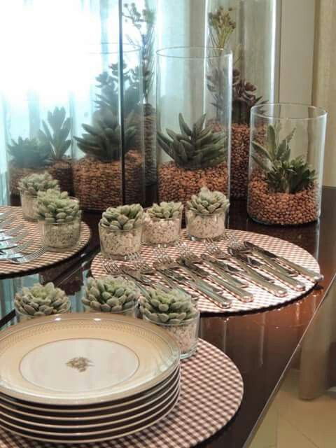 Background candle holders. LOVE the idea :)
