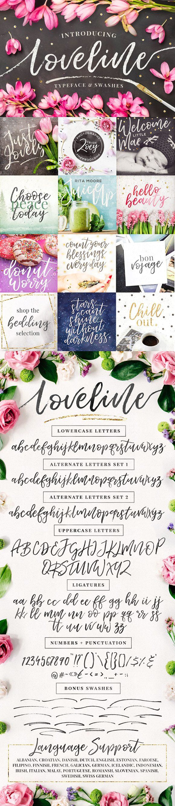 FREE this week – Loveline Brush Script + Swashes by Pink Coffie on Creative Mark…