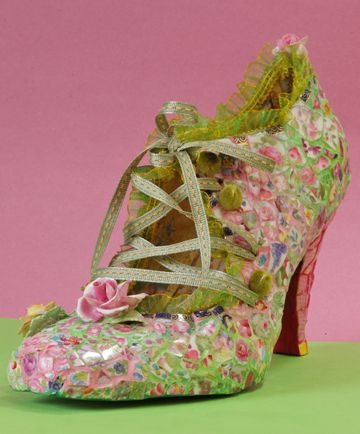 I really, really covet these!  -- Floral Mosaic Art Shoes ~ by Candace Bahouth