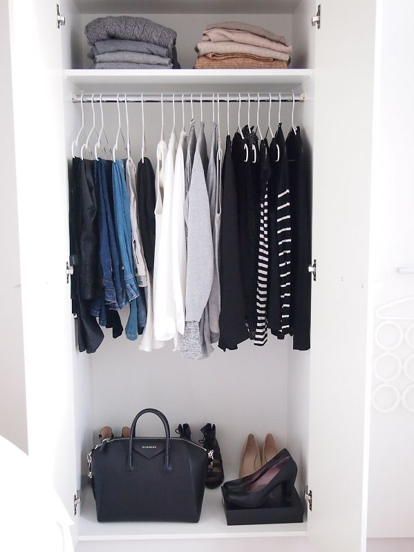 Best 25 minimalist closet ideas on pinterest minimalist wardrobe minimal wardrobe and - Small closet space solutions minimalist ...