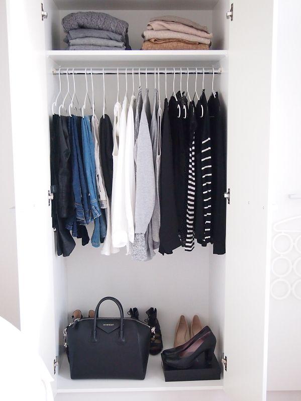Best 25 minimalist closet ideas on pinterest closet bedrooms and closet basics - Wardrobe for small spaces minimalist ...