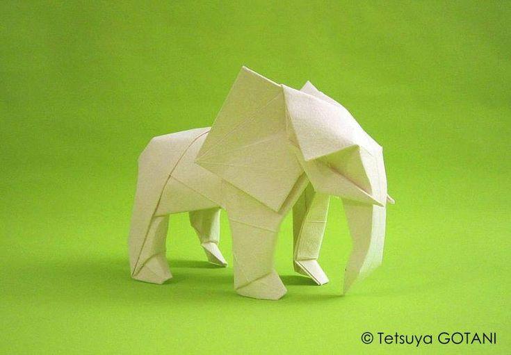 Tetsuya GOTANI éléphant avec le papier de Moulin Richard de Bas